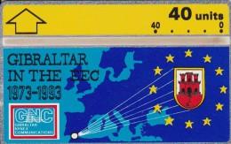 Gibraltar, GIB-32, 20 Years Of Gibraltar In The Eec, Mint, 2 Scans.  Special Offer. - Gibraltar