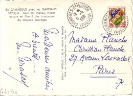 VAUCLUSE - CABRIERES D'AVIGNON LE 6-6-1961 SUR BLASON ALGER. - Postmark Collection (Covers)