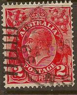 AUSTRALIA 1926 2d KGV SG 99aw U #BH181 - Used Stamps