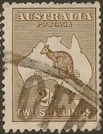 AUSTRALIA 1915 2/- Roo SG 41 U #BH355 - 1913-48 Kangaroos