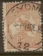 AUSTRALIA 1913 5d Roo SG 8 U #BH165 - 1913-48 Kangaroos