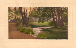 POSTCARD-POSTAL: PAISAJE DE UN BOSQUE- NATURAL LANDSCAPE. CIRCULATED INDEFINITE DATE. GECKO. - Peintures & Tableaux