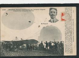 AVIATION - PARACHUTISME - Parachute BONNET Expérimenté Par L'aviateur PÉGOUD à Bord D'un Monoplan BLÉRIOT à CHATEAUFORT - Parachutisme