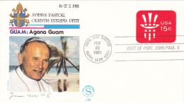 Pope John Paul II - Visit: 1981 USA Alaska    (G55-54A) - Popes