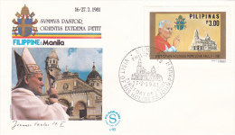 Pope John Paul II - Visit: 1981 Philipines Manilla  (G55-54A) - Popes