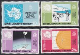 BAT, 1981 TREATY 4 MNH - British Antarctic Territory  (BAT)