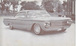 CUSTOM  CAR  1960  PONTIAC    READ  BACKSIDE - Postcards