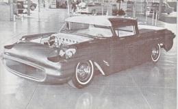 CUSTOM  CAR  TRENDERO  1957  FORD  RANCHERO    READ  BACKSIDE - Postcards