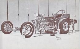 CUSTOM  CAR  CHROME  COFFIN  1923  FORD      READ  BACKSIDE - Postcards