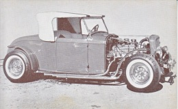 CUSTOM  CAR  HOT  ROD    1932  FORD      READ  BACKSIDE - Postcards