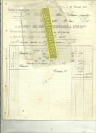 25 - Doubs - AUDINCOURT - Facture COMPAGNIE DES FORGES D'AUDINCOURT – 1912 - France