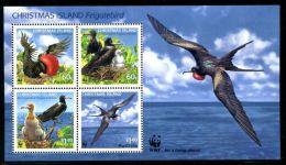 (WWF-458) W.W.F. Christmas Islands Andrew's Frigatebird MNH Souvenir Sheet 2010 - W.W.F.