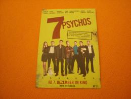 Cinema/7 Psychos - Austria Advertising Postcard/carte Postale - Pubblicitari