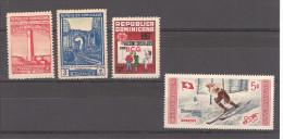 REPUBLIQUE DOMINICAINE / PETIT  Lot De 4 Timbres Neufs Avec Ou Sans Gomme (dont 507 ** J.O. Cortina D´ Empezzo) - Dominicaine (République)