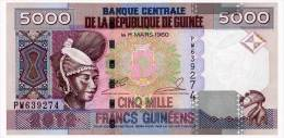 GUINEA 5000 FRANCS 2012 Pick 41b Unc - Guinee