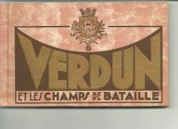 Verdun Et Les Champs De Bataille Carnet De 20 Cartes - Verdun