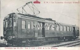 LES LOCOMOTIVES ELECTRIQUES (FRANCE) - N° E 74 - LOCOMOTIVE TYPE  B 0 B0 - SERIE Z 23181 à 23187 De La Cie D'ORLEANS - Trains
