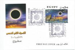 EGYPT  2006  Solar Eclipse FDC - Astronomie