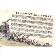MITP0525-LFTD5075TCOM. Tarjeta Postal Militar Francesa. COMIC,regimiento De INFANTERIA DE MARCHA.CANTO DE MARCHA - Cómics