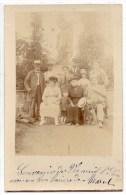 VERNEUIL L'ETANG (77) - CARTE PHOTO DE FAMILLE - Frankrijk