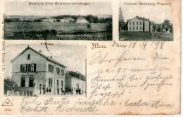 57 MAIZIERES - AZOUDANGE -  Carte 3 Vues - Château - Poste - Vue Général - Autres Communes