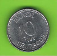 BRASIL - 10 Cruzados 1988  KM607 - Brasil