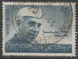 India. 1964 Nehru Mourning Issue. 15p Used. SG 487 - India