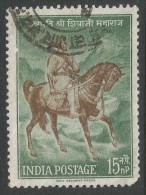 India. 1961 Chatrapati Shivaji Commemoration. 15np Used. SG 437 - India
