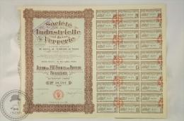 Old Share - Action Sociéte Industrielle De Verrerie - 250 Francs Au Porteur Privilégiée - Paris 1924 - Industrial