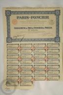 Old Share - Action Paris - Foncier, Cinquantieme De Part De Fondateur Au Porteur - 1927 - Acciones & Títulos