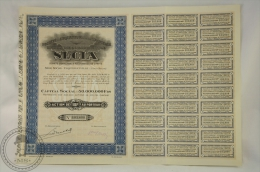 Old Share - Action L´Industrie & L´Agriculture - Coquilhatville ( Congo Belge) - 100 Francs - 1927 - Agricultura