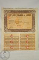 Old Share - Action Campagnie Fermière De Luchon - Rue Pierre Charron - 1927 - Agricultura