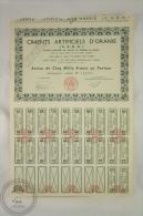 Old Share - Action Ciments Artificiels D´ Oraine - Action De Cinq Mille Francs - 1960 - Industrial