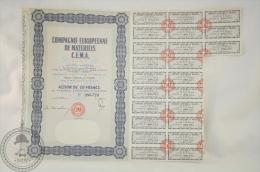 Old Share - Action Compagnie Européenne De Matériels/ European Materials Company - Paris - Action 50 Francs - 1963 - Industrial