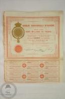 Old Share - Action Banque Territoriale D´Espagne/ Territorial Bank Of Spain - 1872 - Banco & Caja De Ahorros