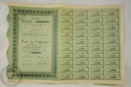 Old Share - Société  STAC Charentes - Aux Trois Canons - Commune D´Yves - 1924 - Acciones & Títulos