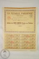 Old Share - Action La Futaille Parisienne - Societe Anonyme, M Pignard - Paris - Sin Clasificación