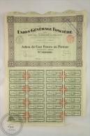 Old Share - Action Union Generale Fonciere - Paris 1926 - Acciones & Títulos