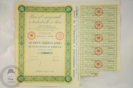 Old Share - Action Union Commerciale & Industrielle De Paris - Action Ordinaire Cent Francs - 1928 - Industrial