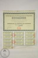 Old Share - Action Societe Algerienne De Developpement Et D´ Expansion SOCALDEX - Paris - 175 Francs - 1958 - Acciones & Títulos
