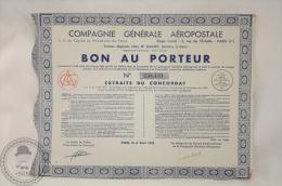 Old Share - Action Compagnie Generale Aeropostale - Bon Au Porteur - 1935 - Acciones & Títulos