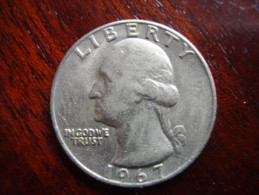 U.S.A. 1967  TWENTY FIVE Cents  WASHINGTON EAGLE  Condition USED Very Good. - Other