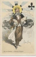 Carte A Jouer Roi De Trefle Par Gaston Noury Né A Elbeuf Billet Banque Piece Or Gold - Cartes à Jouer