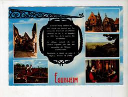Eguisheim, Multivues Animée, Vache - Ed La Cigogne 68 078 09 - Manuscrite - France