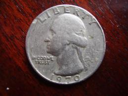 U.S.A. 1970 D  TWENTY FIVE Cents  WASHINGTON EAGLE  Condition USED  Good. - Other