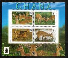 (WWF-503) W.W.F. Ghana Bohor Reedbuck MNH Stamps 2012 - Unused Stamps