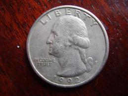 U.S.A. 1992 P  TWENTY FIVE Cents  WASHINGTON EAGLE  Condition USED  Good. - Other