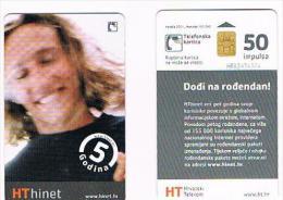 CROAZIA (CROATIA) - CHIP  - HPT 2001 HT HINET: GODINA 5  50    - USED - RIF. 6754 - Croazia