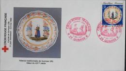 1 ENVELOPPE 1er JOUR 1990 - Croix-Rouge Française - Quimper Le 5 Mai 1990 - FDC