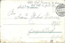 LIGNEUVILLE ..-- ENGELSDORF ..-- Carte MILITAIRE . 1915 . Feldpost . Vers Famille ZIANS . Voir Verso . - Malmedy